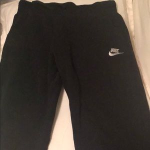 Black Nike joggers boys XL